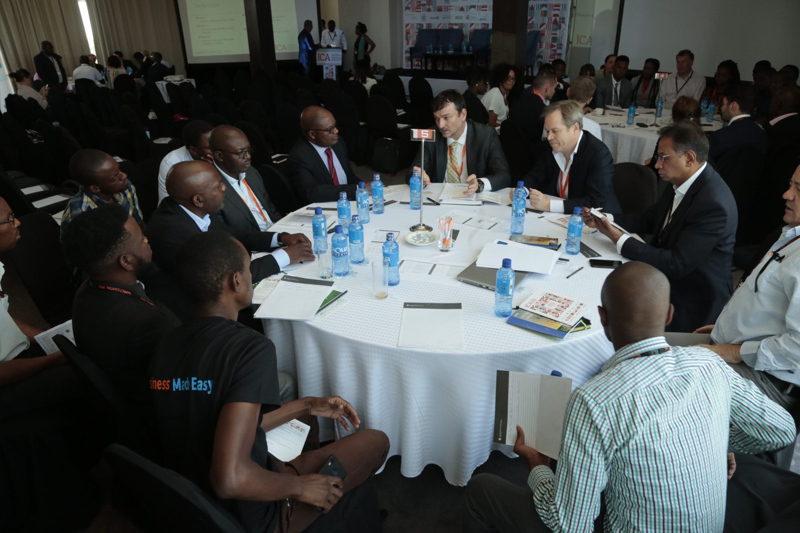 A round table discussion at ICA Zambia 2019
